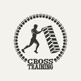 Cross Training man silhouet logo Royalty Free Stock Photos