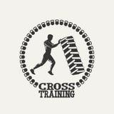Cross Training man silhouet logo Royalty Free Stock Photos