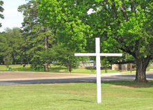 Cross with Trees Royalty Free Stock Images