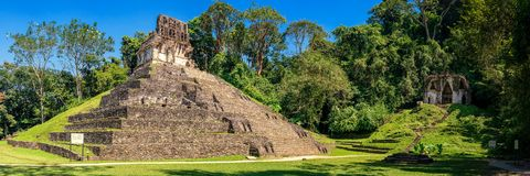 The Cross & the Triad. The complex of the cross and the triad of Palenque. Panorama stitched using 8 portrait shots Royalty Free Stock Images
