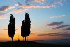 Cross in Tuscany Stock Photo