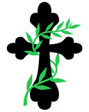 Cross twined vine Stock Images