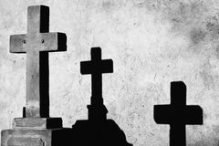 Cross and two shadows Royalty Free Stock Photography