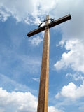 Cross under blue heaven. In Terezin memorial Stock Images