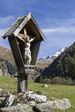Cross in the Vals Valley in Tyrol Stock Photo