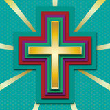 Cross. Vector image created by using 3D options of Adobe Illustrator Stock Images