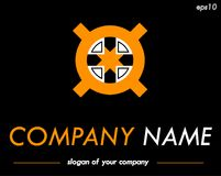 Cross vector logo template, ready logotype for a company or a br Royalty Free Stock Image