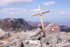 Cross at Velebit Royalty Free Stock Photos