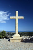Cross with a view Royalty Free Stock Photography