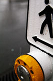 Cross Walk Button Stock Image