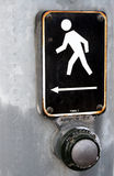 Cross Walk Button. Close Up Walk Sign Crosswalk Button royalty free stock photography