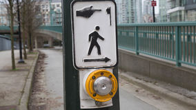 Cross walk button no people Royalty Free Stock Images