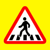 Cross walk icon great for any use. Vector EPS10. Royalty Free Stock Photography