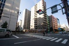 Cross walk, Osaka Stock Photography