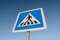 Cross walk sign Royalty Free Stock Images