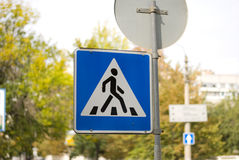 Cross walk sign Stock Images