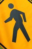 Cross walk sign macro Stock Images