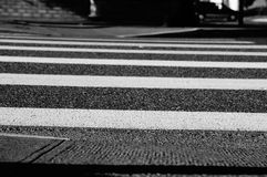 Cross walk. A cross walk is your safest way to cross a street Royalty Free Stock Images