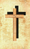 Cross on the wall. Royalty Free Stock Images