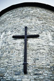 Cross On A Wall Stock Images