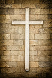 Cross on the wall Stock Image