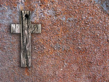 Cross on the wall Royalty Free Stock Photography