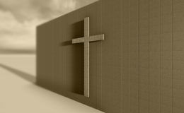 Cross on the wall Royalty Free Stock Image