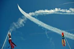 Cross Wash. Blue Angels show over Lake Washington Stock Photography
