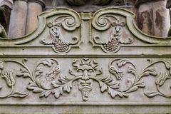 Cross Well, historical details, Linlithgow in Scotland. UK royalty free stock image