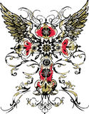 Cross wing tattoo Stock Photo