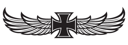 Cross and wings Stock Photography
