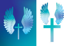 Cross and wings colour Stock Photography