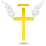 Cross with wings Royalty Free Stock Images