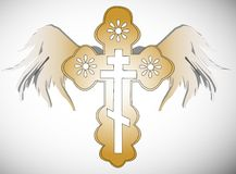 Cross with wings illustration Stock Images