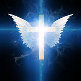 Cross with wings Stock Images