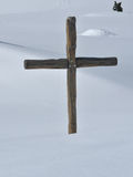 Cross in the winter Royalty Free Stock Photos