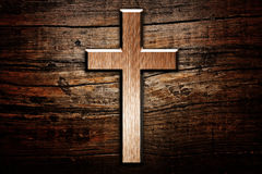 Cross on wood Royalty Free Stock Photo