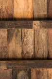 Cross Wood. The construction of wood that made of board and lumber is used for ceiling, floor or wall Royalty Free Stock Photos