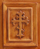 Cross within wood frame Royalty Free Stock Photography