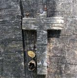 Cross in the Wood Royalty Free Stock Photos