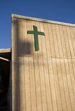 Cross on wooden building Stock Images