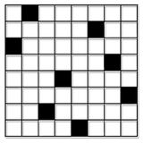Cross-word Puzzle. Black and white Cross-word Puzzle Royalty Free Stock Photography