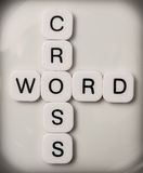 Cross word puzzle Royalty Free Stock Photos