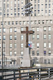 Cross at World Trade Towers Memorial Site for September 11, 2001, New York City, NY Royalty Free Stock Images