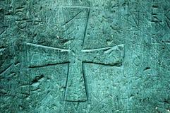 cross wycięte drewniane zdjęcie royalty free