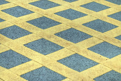 Cross yellow line Royalty Free Stock Photography