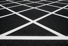 Cross yellow lines Royalty Free Stock Photos
