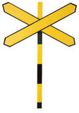 A cross yellow sign Royalty Free Stock Photo