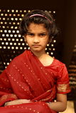 Cross young Indian girl Royalty Free Stock Photos