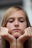 Cross young teenager Stock Photo
